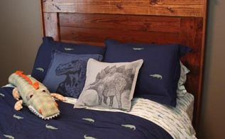 build a bed headboard from reclaimed wood, painted furniture, repurposing upcycling, rustic furniture, woodworking projects