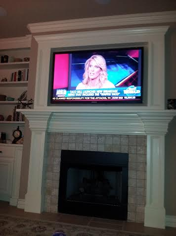 tv above fireplace solution, fireplaces mantels, home decor, living room ideas