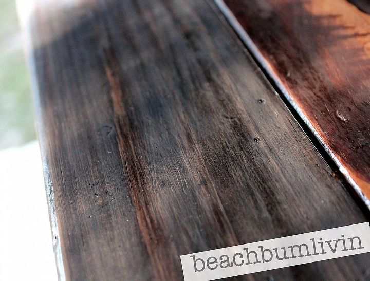http://beachbumlivin.com Two different stain colors layered.
