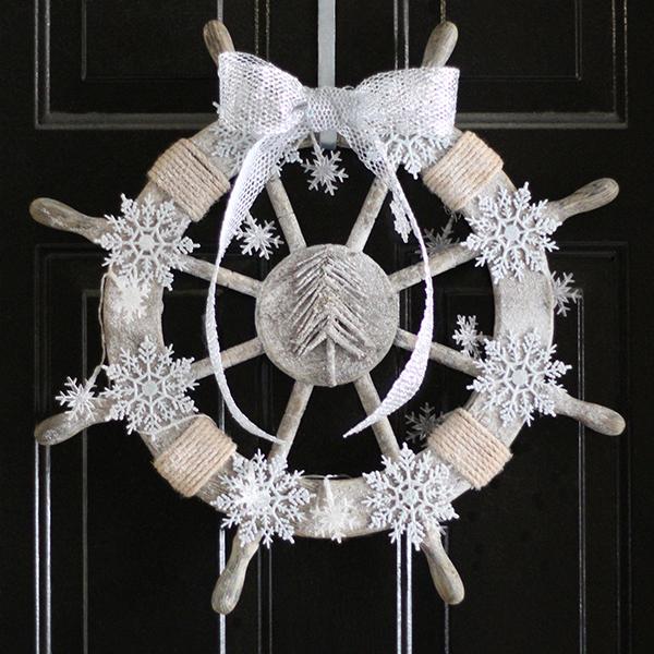 nautical christmas wreath, crafts, seasonal holiday decor, wreaths, Nautical Christmas Wreath