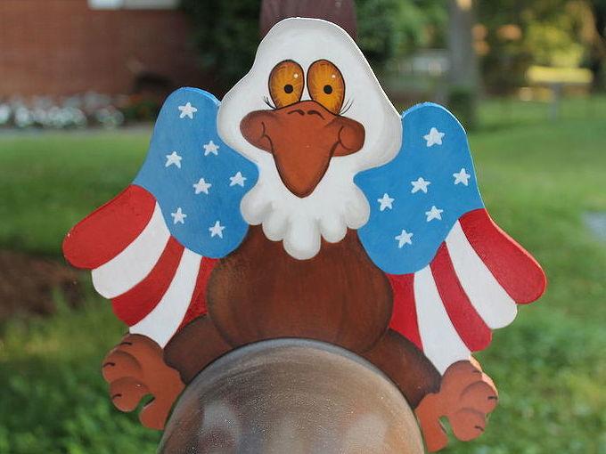 holiday mailbox sitters, crafts, seasonal holiday decor, July 4th