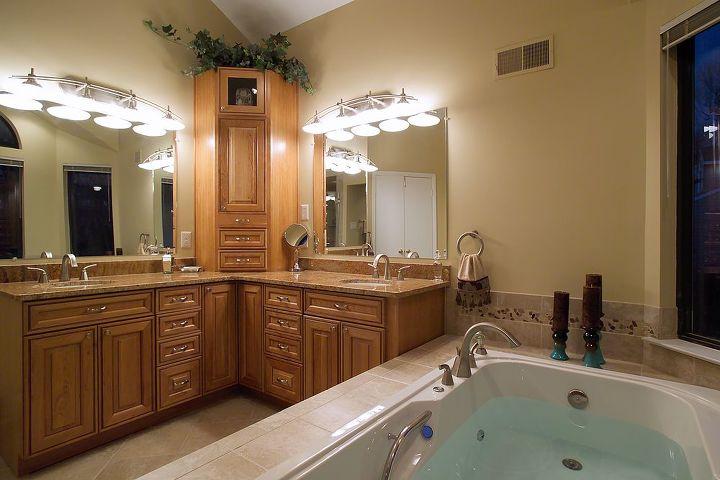 bay window helps makes this bathroom remodel extra special, bathroom ideas, windows