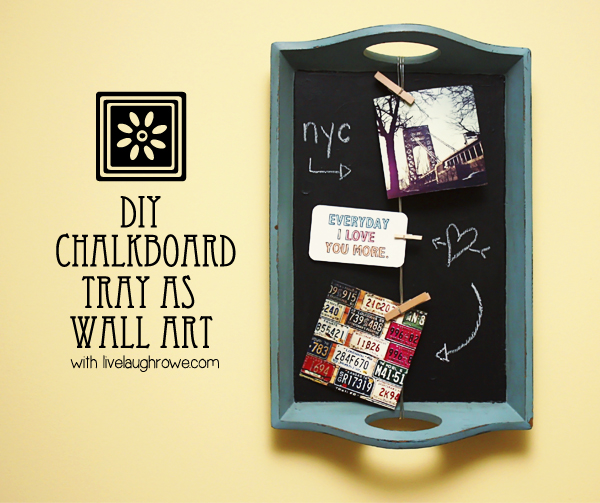 diy chalkboard tray wall art, chalkboard paint, crafts