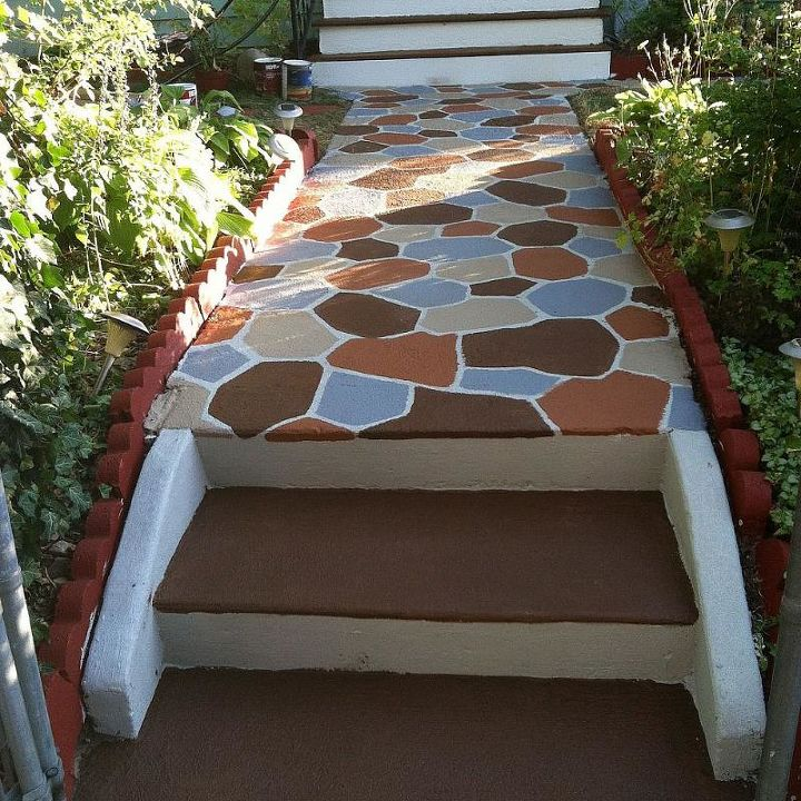 I even painted the cement steps by the front gate.  everyone who sees this loves the colors and makes my front yard look so much nicer