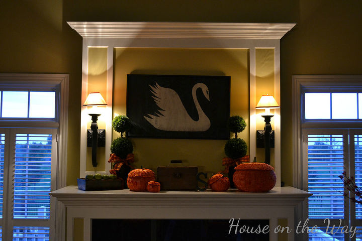 painted wooden swan sign, crafts, home decor