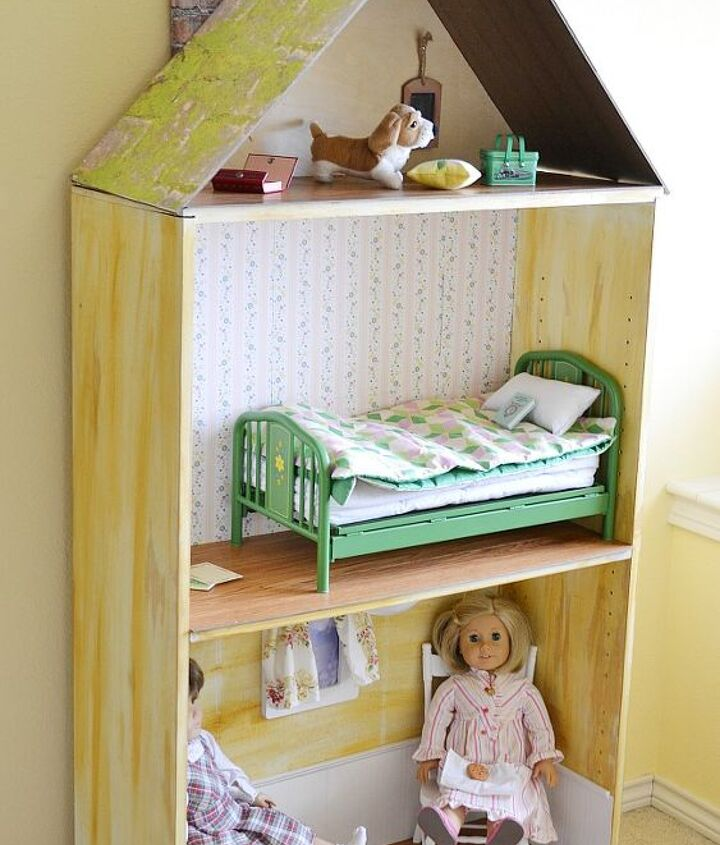 A bookcase became the perfect home for my daughter's American Girl doll.