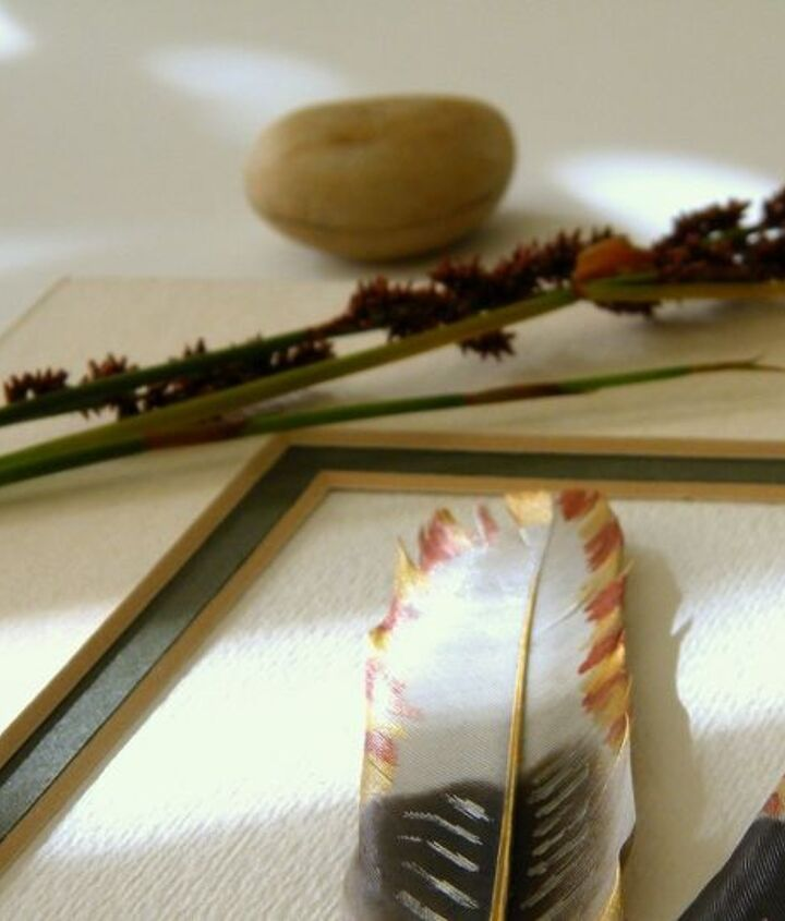 painted feathers, crafts