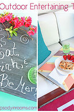 versatile double sided diy outdoor entertaining trays, chalkboard paint, crafts, outdoor living, woodworking projects
