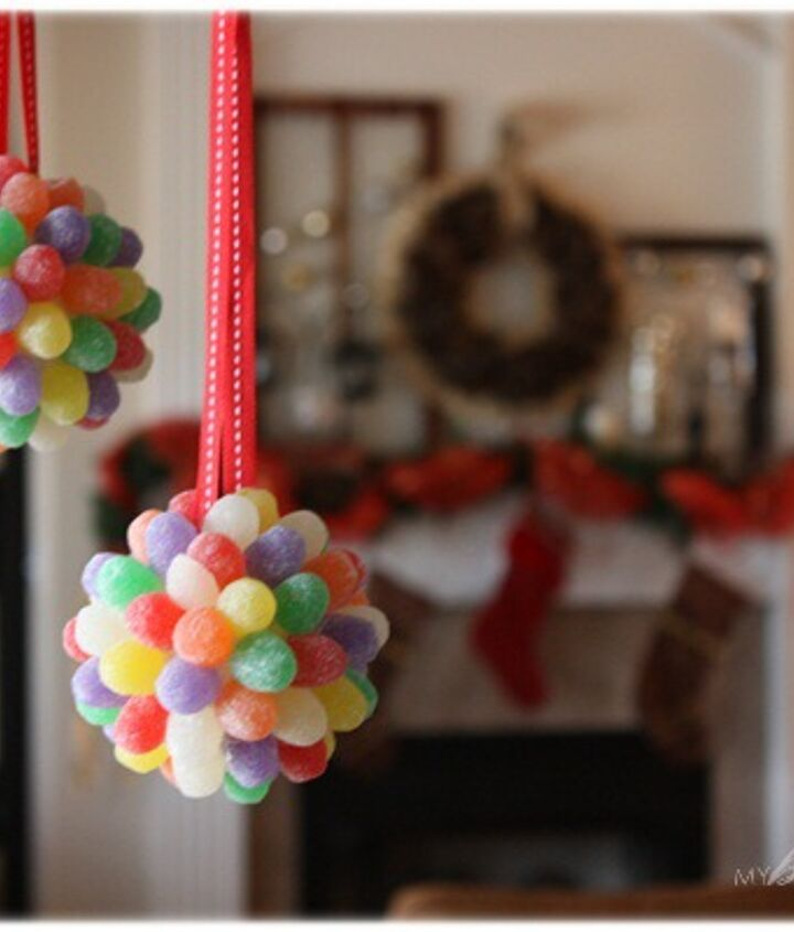adorable gum drop pomander ornaments, christmas decorations, crafts, seasonal holiday decor