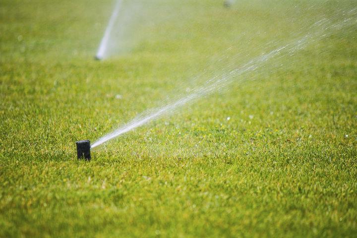 sprinkler installation, gardening, landscape