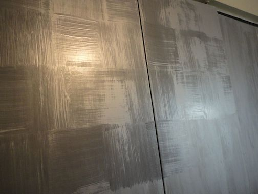 get an amazing faux silver leaf finish with just paint, closet, painted furniture, shabby chic