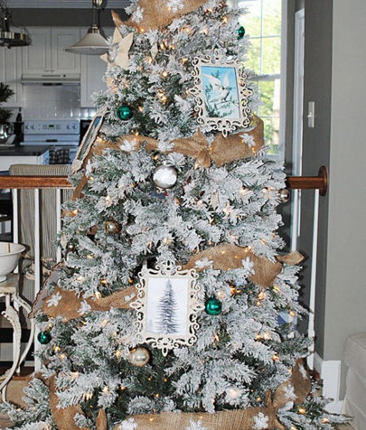 My flocked Christmas Tree.