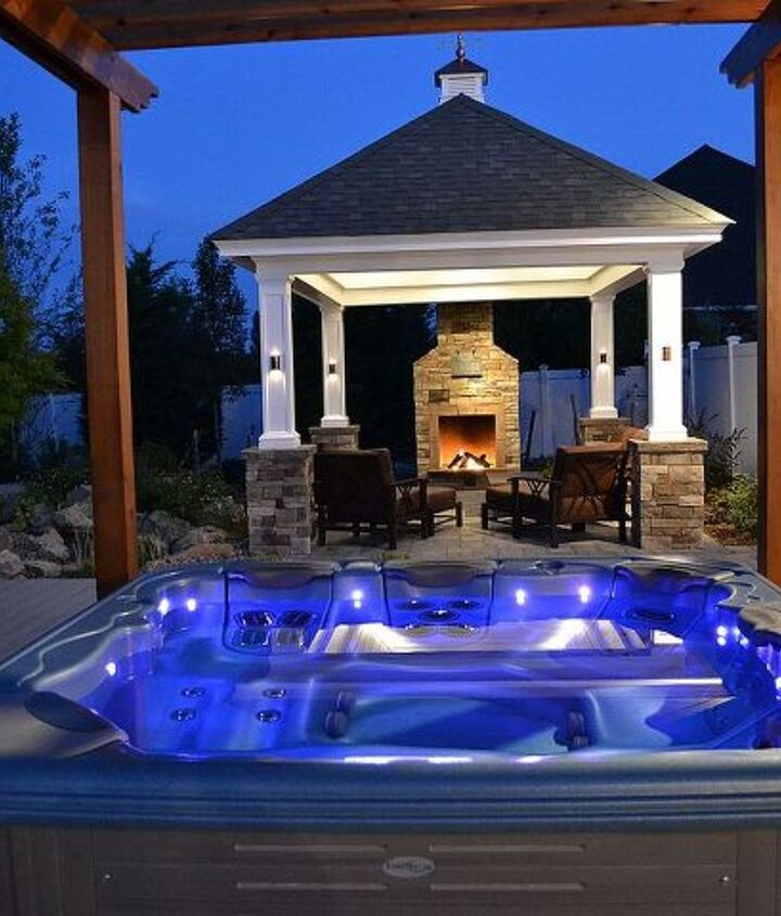 Hot Tub vs Swimming Pool: A portable hot tub can be a very special budget option to the more expensive swimming pool by providing that vital element of nature -- water. www.longislandhottub.com