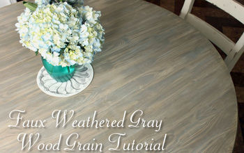 How to Faux Finish Weathered Wood Grain (Budget Upgrade)