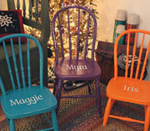 personalized chairs for kids, painted furniture