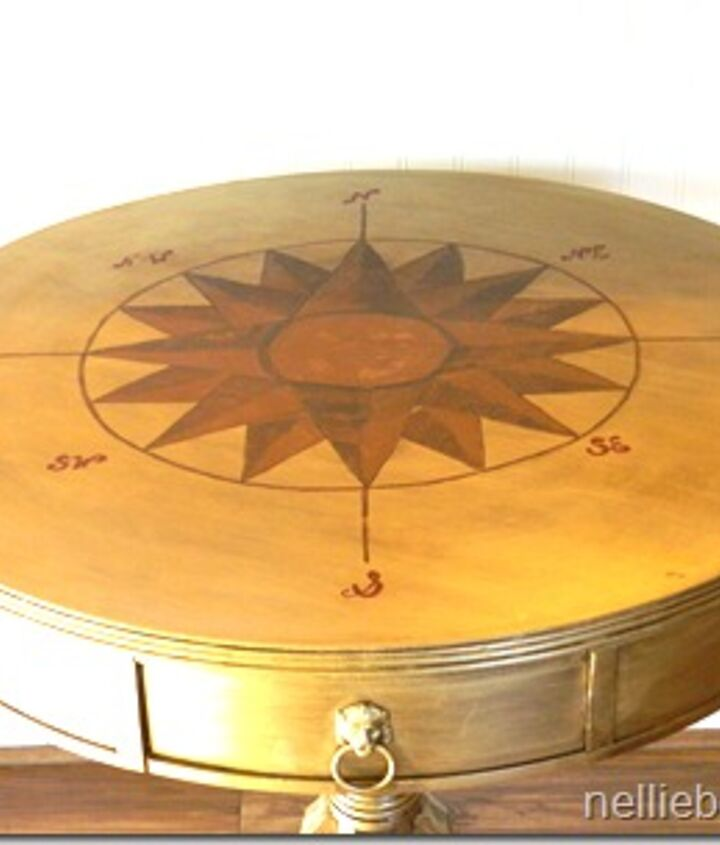 9 steps to create a compass rose.  The simple steps are explained in detail on the blog post