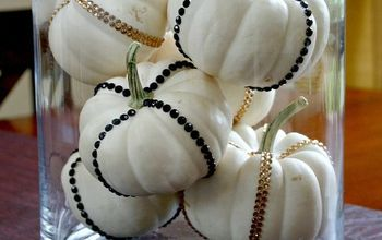 "Add a little ""bling"" to your fall decorating"