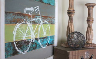 reclaimed wood bike art, crafts, home decor, woodworking projects, Spring fever inspired bike art