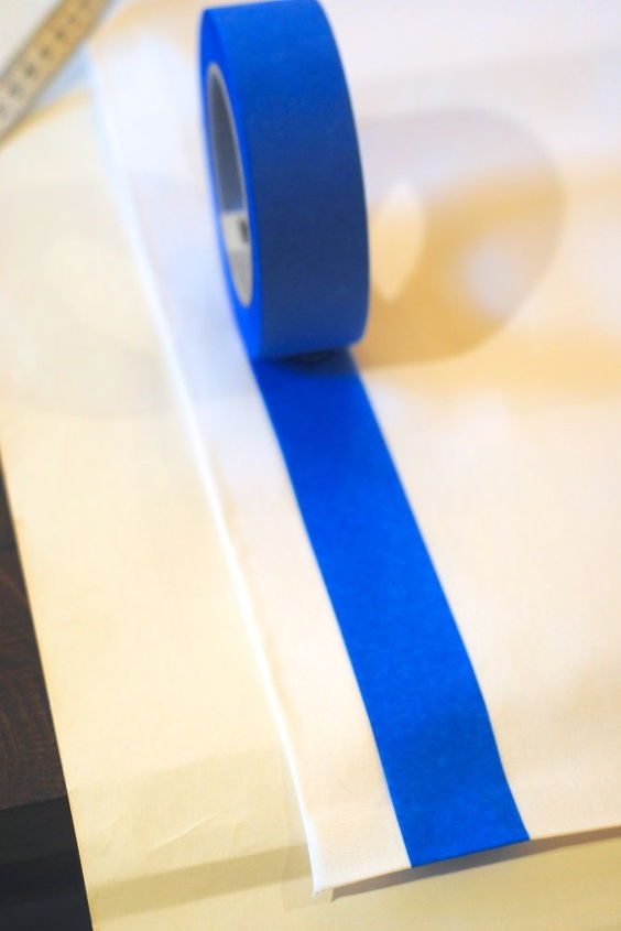 After fusing, use painter's tape to mark your edges for the paint.