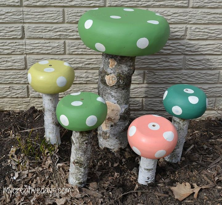 whimsical toadstools for your garden, crafts, gardening