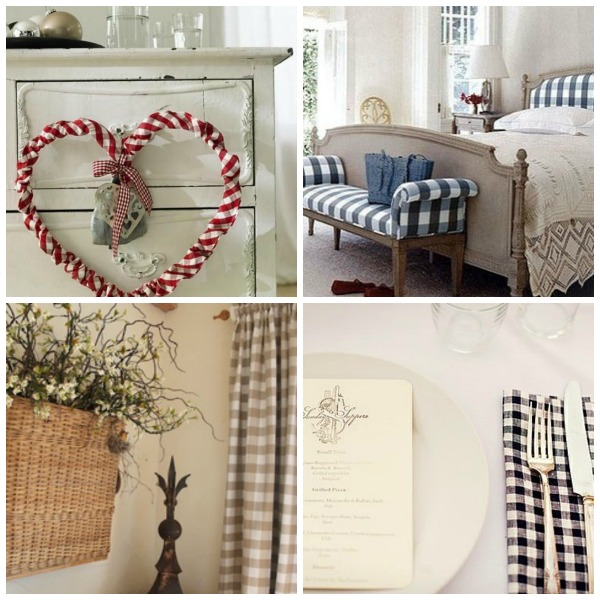 Gingham, check and plaid look great in each of these shots. From curtains, bedhead, napkins or decorations