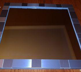 Three Diy Bathroom Mirror Frames, Crafts, Painted Furniture. Adhesive Tile.