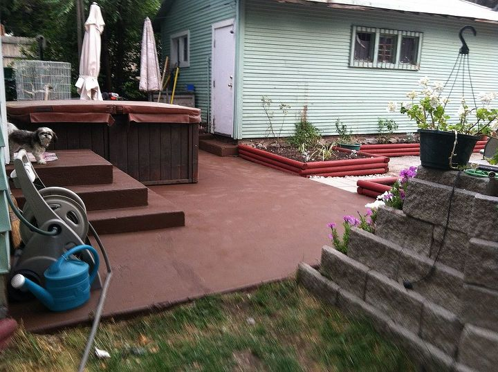 I even painted the steps.