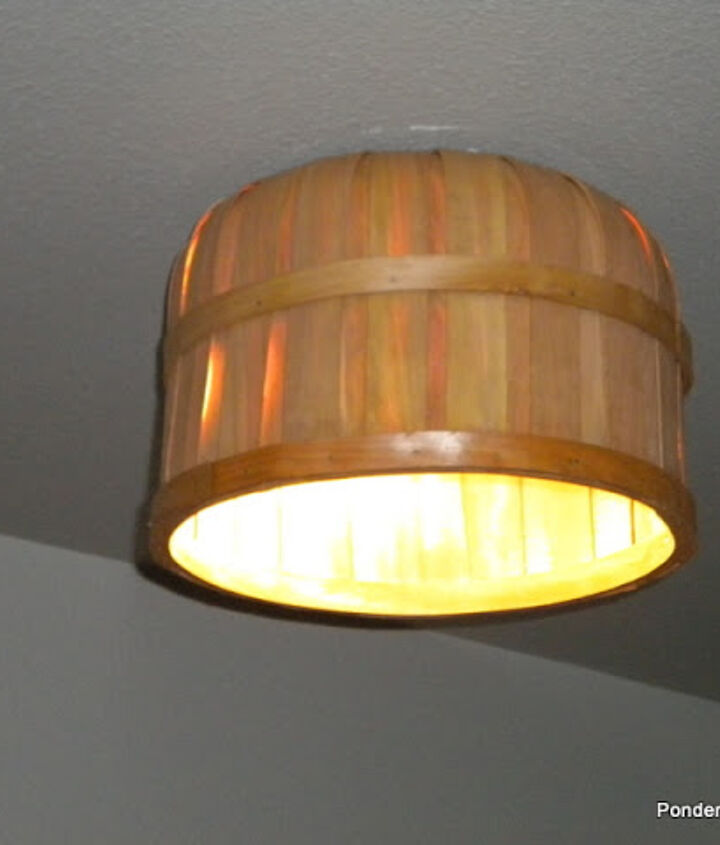 Our new light fixture started out as an Easter basket.  Who knew?