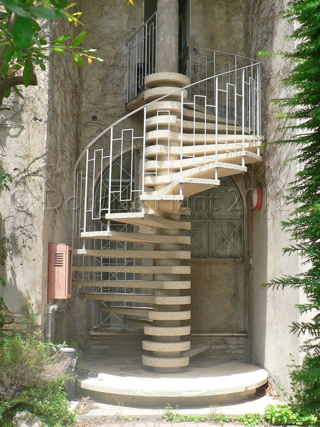 Ancient site, modern stairs.