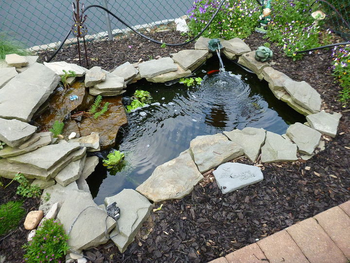 my husbands pond project i love it, outdoor living, ponds water features