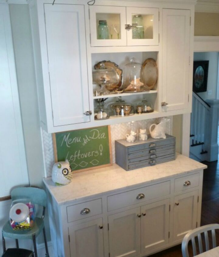 Kitchen reno - fill your kitchen with one of a kind flea market findsClick here for more pics:http://eclecticallyvintage.com/2012/02/kitchen-tour-renovation-white/