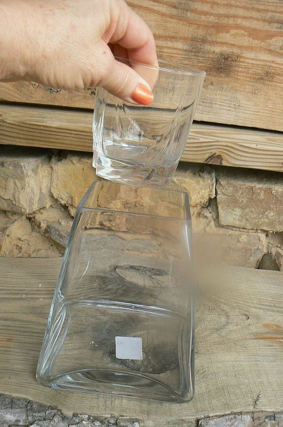 Glass for flowers and water.