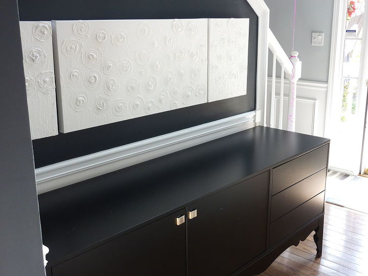 q turned an inexpensive ikea piece of furniture into fab should i add hardward to the, painted furniture, BEFORE