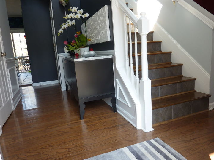 q stairs remodel, home decor, stairs, tiling, AFTER