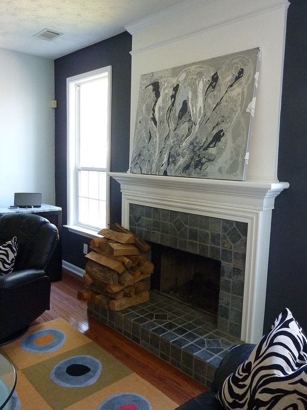 Less tchachkis new painting for new updated fireplace look