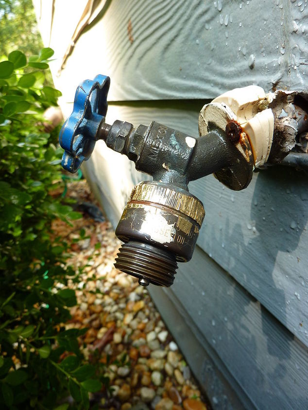 HELP!! We have an outdoor water faucet that is leaking terribly. We ...