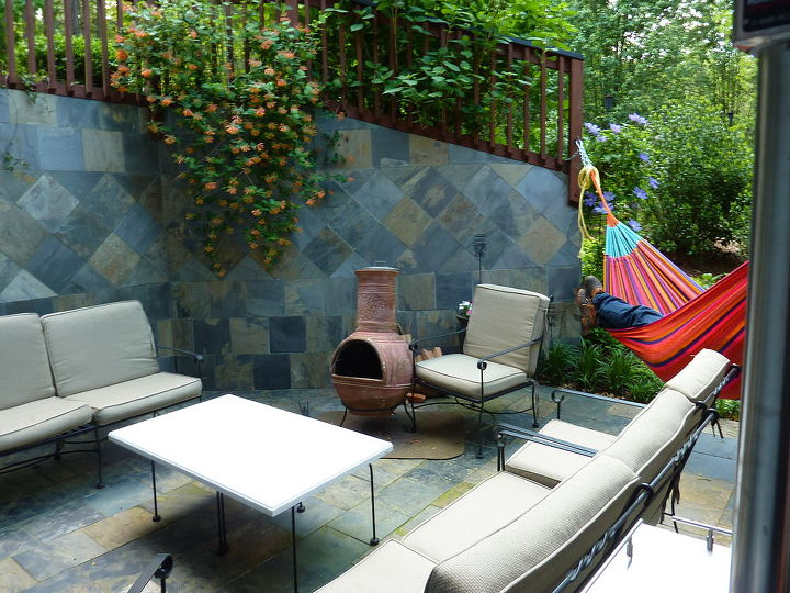 Lounging area and Mexican Chimenea