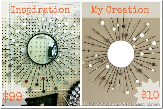 diy sunburst mirror from a candle holder, crafts, home decor, repurposing upcycling, Enjoy your beautiful creation for a fraction of the store costs