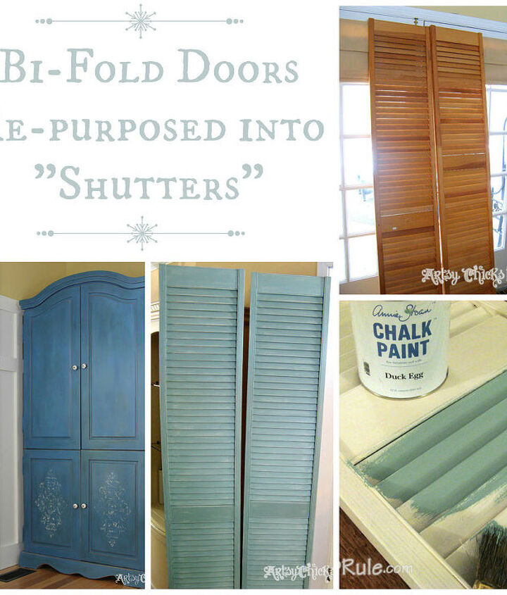 "Bi fold doors ---> turned into ""shutters"" for my family room french doors."