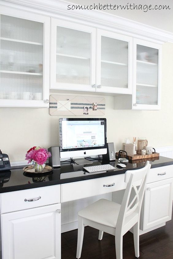 kitchen office, craft rooms, home decor, home improvement, home office, kitchen design, Nothing better than having an office in your kitchen
