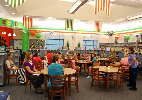 Kids and adults alike now feel happy and welcomed in their new library!
