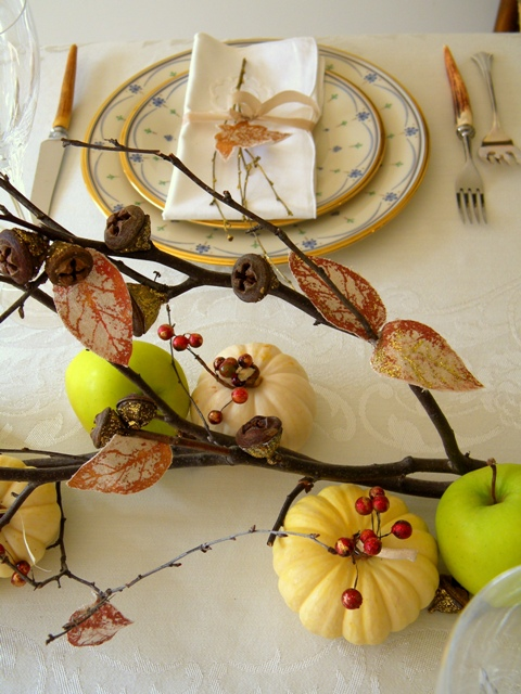 a fall table centerpiece, crafts, seasonal holiday decor