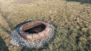 lawn question, landscape, outdoor living, fire pit area When the ground is wet the fire pit is over half full of water
