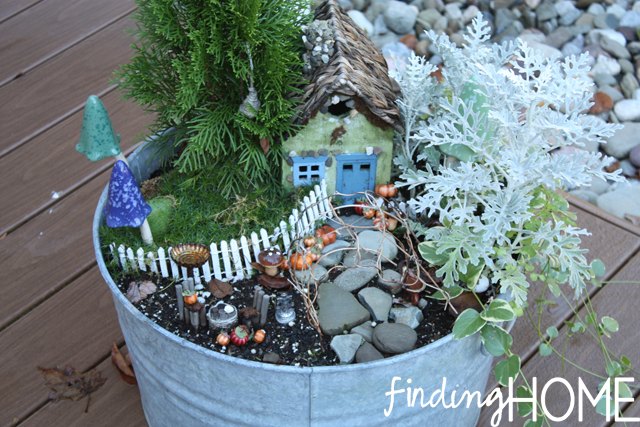 a fall fairy garden, gardening, seasonal holiday decor