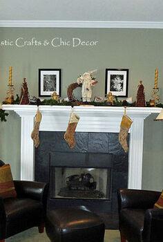 a rustic chic christmas mantel, christmas decorations, seasonal holiday decor, wreaths