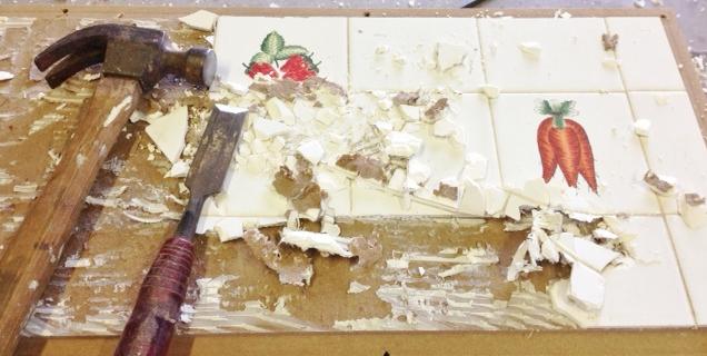 Tile removal:)