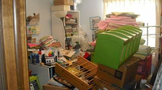 craft area organization, craft rooms, organizing, small room moving to bigger room as u see