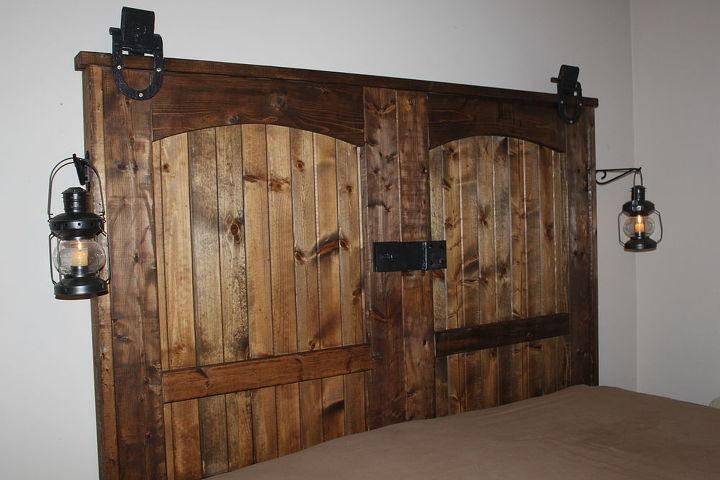 how to build a rustic barn door headboard, bedroom ideas, doors, home decor - How To Build A Rustic Barn Door Headboard Hometalk