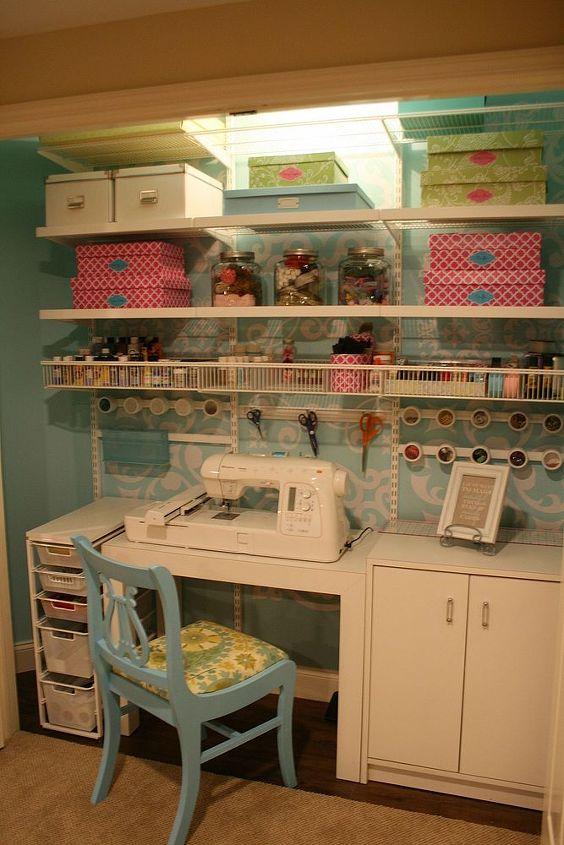 craft sewing closet, craft rooms