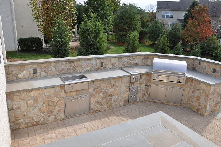 outdoor kitchen before during and after, decks, landscape, outdoor living